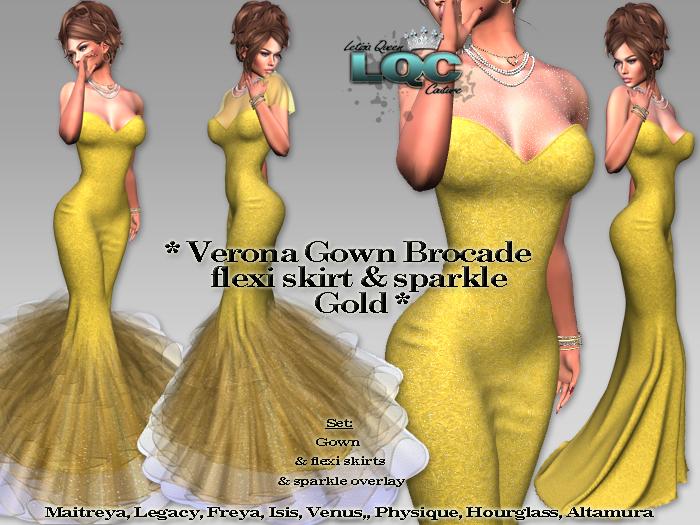 *LQC* ♕ Verona Gown brocade GOLD ♕