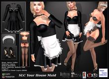 SLC Your House Maid * Roleplay * Maitreya, Legacy, Belleza Hourglass * Dress, Apron, Collar,Lingerie,Heels *