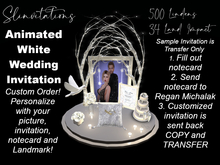 Slinvitations Custom Animated White Wedding Invitation