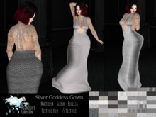 ::AMF:: Silver Goddess Gown-  Add To Open