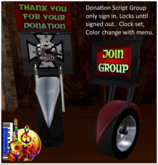 Motorcycle Theme Group Joiner, Donation Jar