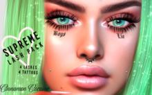 [Cinnamon Cocaine] Supreme Pack - Lashes + Face Tattoos