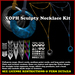 Necklace kit with full-perm sculpt maps for cords, loops, offset ring pendants, more. (jewelry builders kit, sculpties)