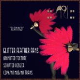 ::AU:: GLITTER FANS - Flamingo