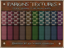 Parkins Textures - Demoiselle Set - 20x Full Perm Seamless 1024x1024 - Fabric, Textile, Cloth, Dragonfly, Check, Suit