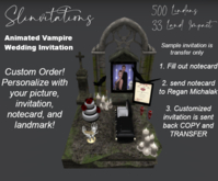 Slinvitations Custom Animated Vampire Wedding Invitation