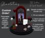 Slinvitations Custom Animated Red Black Wedding Invitation