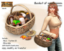 Rustic basket of mushrooms - Old World - Rustic / Medieval
