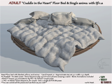 Erotic Heart Cuddle bed floor w/ blanket pillows ADULT 424 anims. sf11.a
