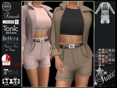 PROMO -50% Stars - Classic, Maitreya, Legacy, Ocacin, Tonic, Slink, Belleza - Narelle jacket, sweater, shorts