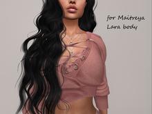 Powder fit mesh sweater: Maitreya Venus Slink Isis Freya
