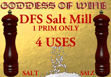 [DFS] Salt Mill * 4 Uses * Looks real and can use for many things!