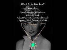 *p-a-b 3Simple Emerald M Necklace