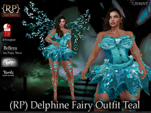 (RP) Delphine Fairy Outfit Teal