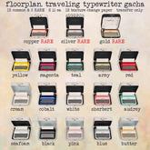 floorplan. traveling typewriter / white