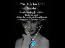 *p-a-b 4Simple Sapphire L Necklace