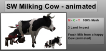 SW Milking Cow - animated