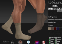 [VANNIES] Men's Dress Socks Classic (Applier HUD + BoM) (Belleza, Legacy, Signature, Slink and Omega)