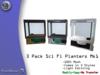 [MB3] 3 Pack Sci-Fi Planters Mk1