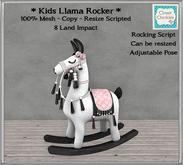 *CC* Kids Llama Rocker {Resize Scripted} [boxed]