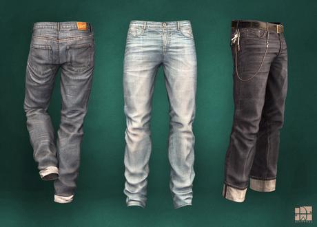 [Deadwool] Kojima jeans - Fat pack (+ keychain)