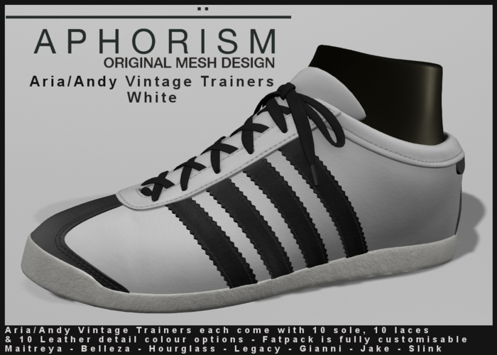 !APHORISM! - Aria/Andy Vintage Trainers - White
