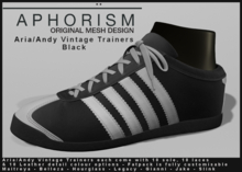 !APHORISM! - Aria/Andy Vintage Trainers - Black