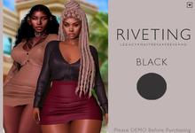 **RIVETING ~ Hosidity Skirt {Black} {Add}