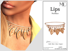 ME Lips Necklace v2 (Boxed. Wear me)