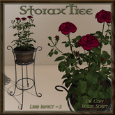 Iron Plant Stand Planter Roses A2