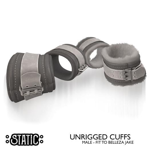 ::Static:: Bound Cuffs {White} Male