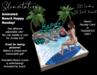 Slinvitations Animated Beach Happy Rezday Card