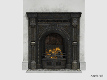 Apple Fall Clifton Fireplace (Black) w/Fire
