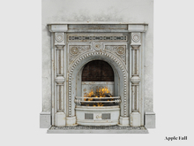 Apple Fall Clifton Fireplace (White) w/Fire