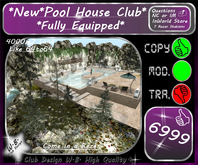 *New * Pool House Club * Fully Equipped *