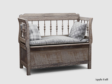 Apple Fall Rustic Storage Bench (Box)