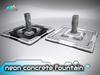 solares >> Neon Concrete Fountain