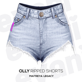 evani. Olly ripped shorts - light -