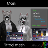 Furry Andy - Mask for Canis Lupus head bento
