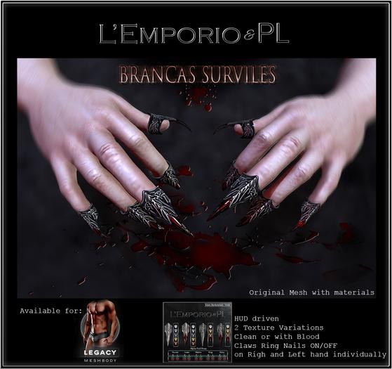 L'Emporio&PL ::*Brancas Surviles*::-Claw Rings-[LEGACY] m.