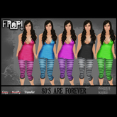 Frop! 80's are forever Leggins & Top Set - Stripes