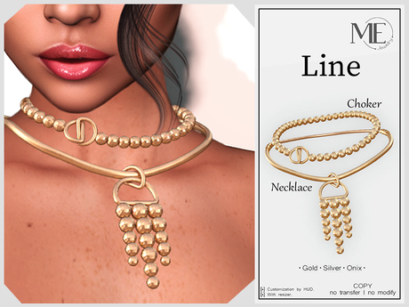 ME Line Necklace+Choker (Boxed. Wear me)