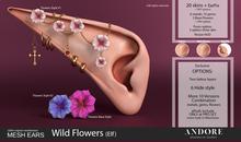 :ANDORE: - :Mesh Ears: - Wild Flowers [Elf]  [PRO]