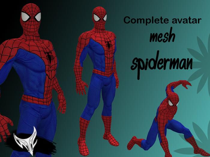 Complete Avatar Spiderman Classic mesh