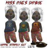Miss Ing's Dinkie Hippie Stripey Set