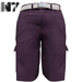 Nero - Gualtieri Cargo Shorts - Purple