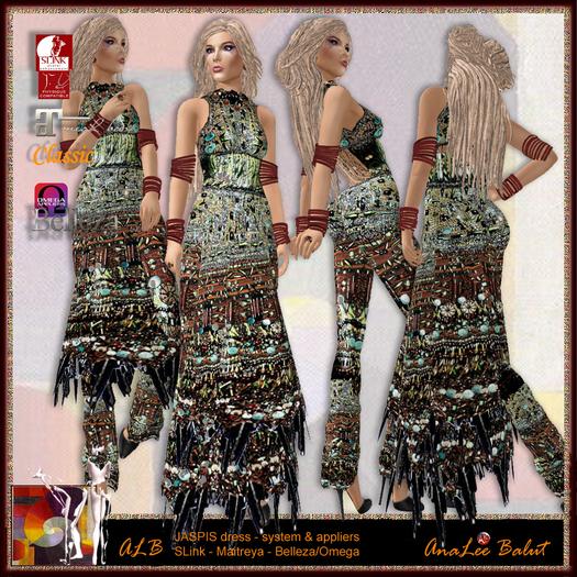 ALB JASPIS dress set + mules + jewellry - SLink & Maitreya & Belleza applier