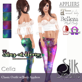 Silk Dreams Celia Top &  Jeans with Body Appliers