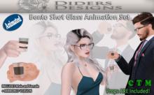 Bento Shot Glass Animation Set P6 AO and Sit Compatible