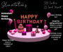Slinvitations Animated Pink Happy Birthday Card